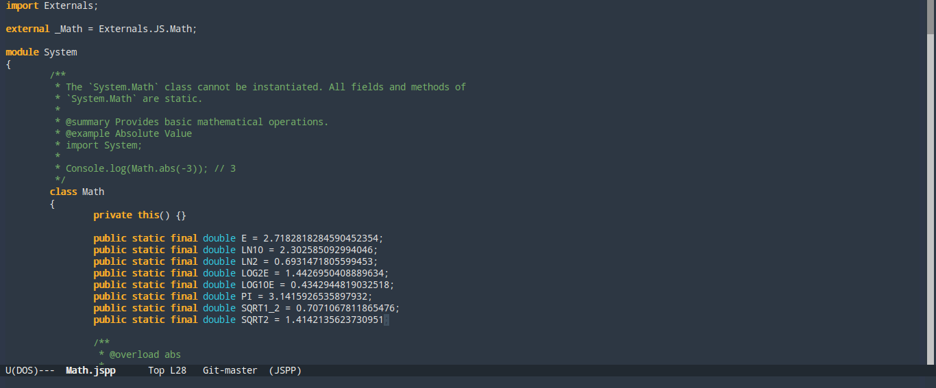 Emacs Syntax Highlighting for JS++