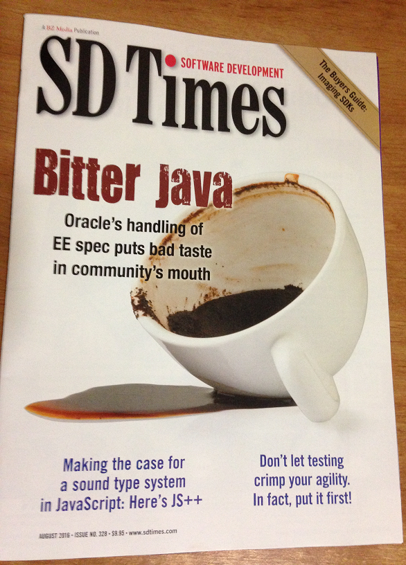 JS++ on SD Times Magazine Cover